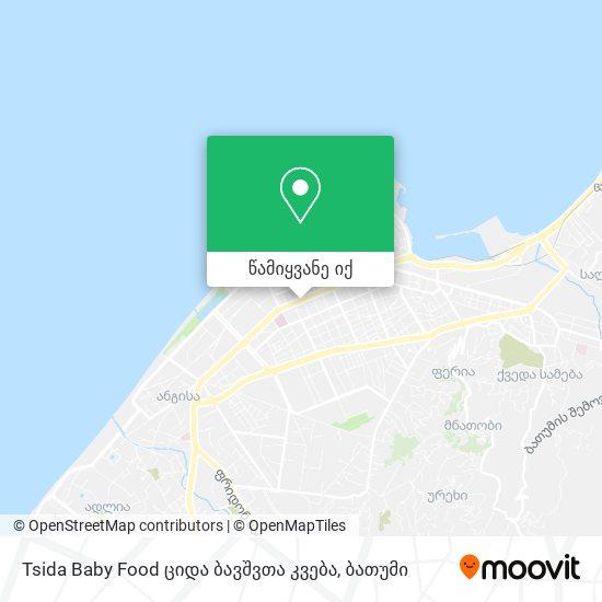 Tsida Baby Food ციდა ბავშვთა კვება რუკა