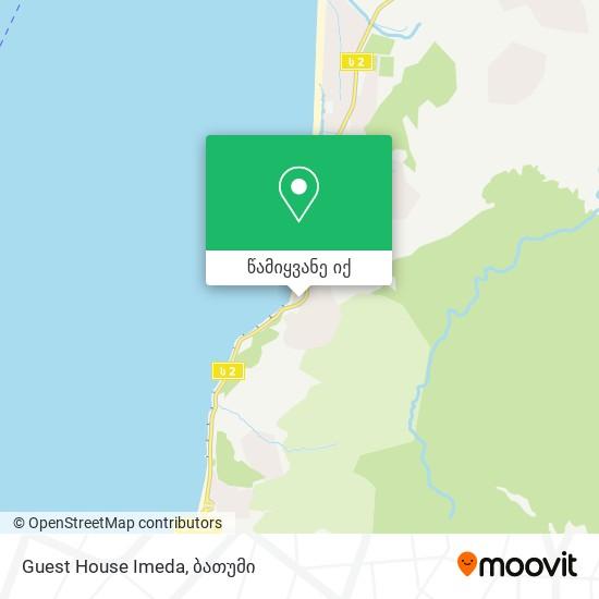 Guest House Imeda რუკა