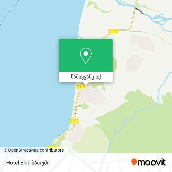 Hotel Enri რუკა
