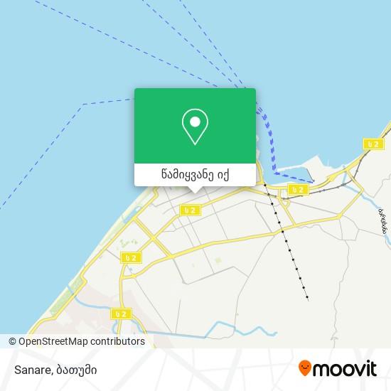 Sanare რუკა