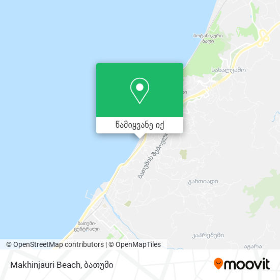 Makhinjauri Beach რუკა