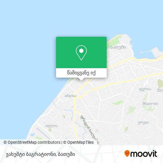 ვახუშტი ბაგრატიონი რუკა