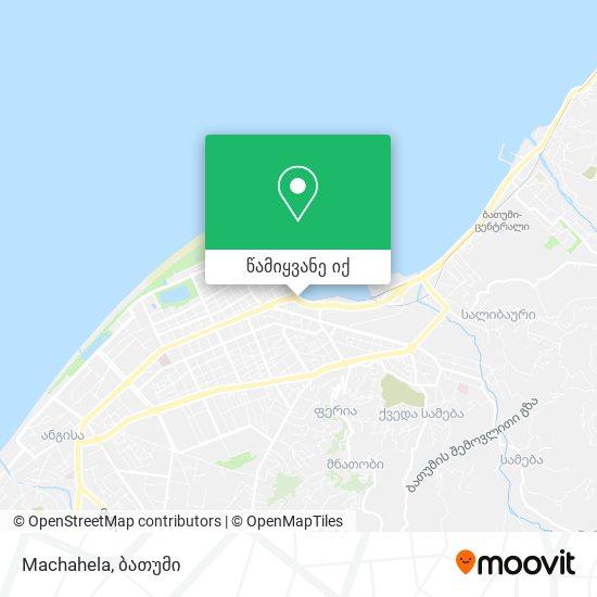 Machahela რუკა