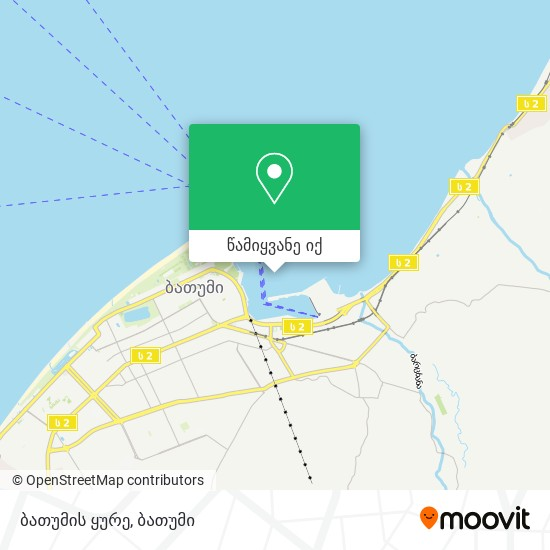 ბათუმის ყურე რუკა