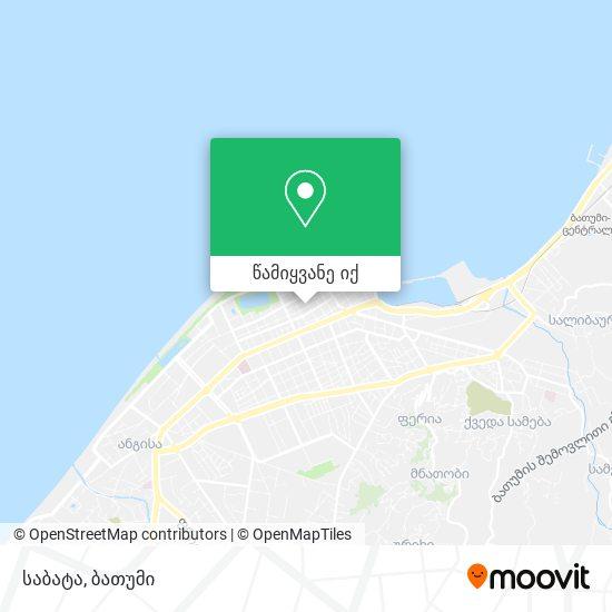 საბატა (Sabata) რუკა