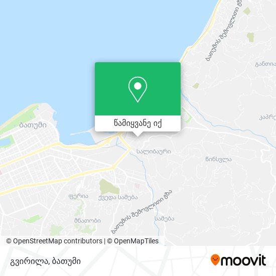 გვირილა რუკა