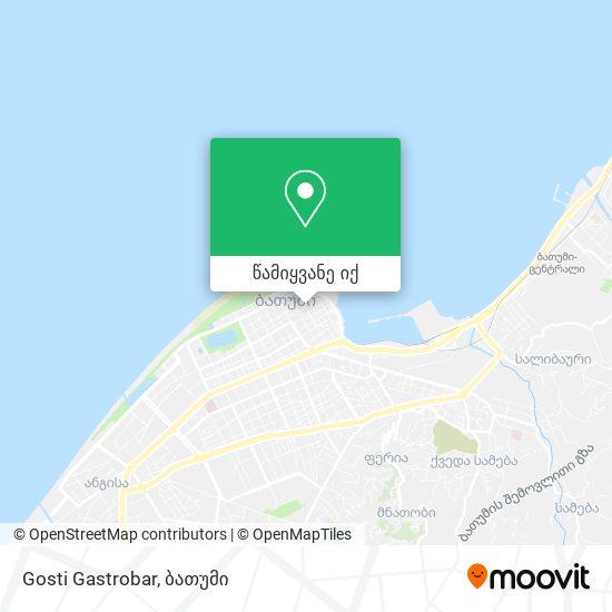 Gosti Gastrobar რუკა