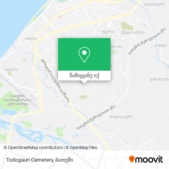 Todogauri Cemetery რუკა