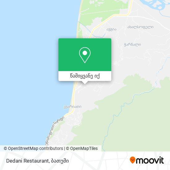 Dedani Restaurant რუკა