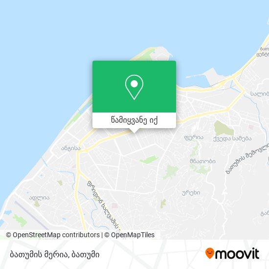 ბათუმის მერია რუკა