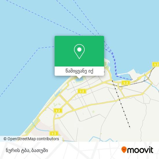 ნურიგელის ტბა რუკა
