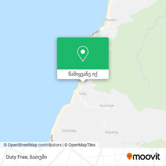 Duty Free რუკა