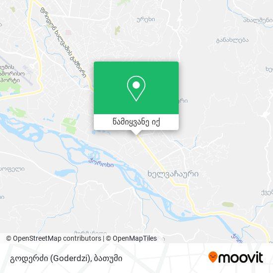 გოდერძი (Goderdzi) რუკა