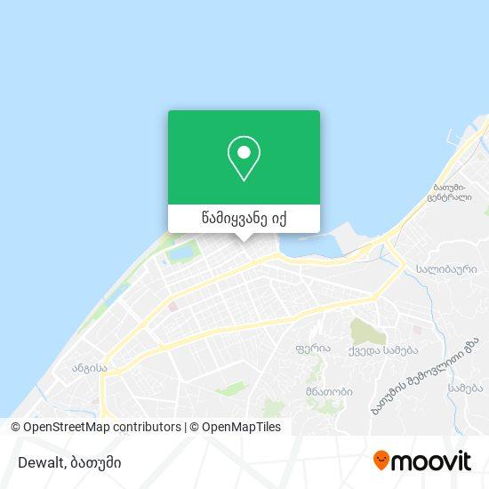 Dewalt რუკა