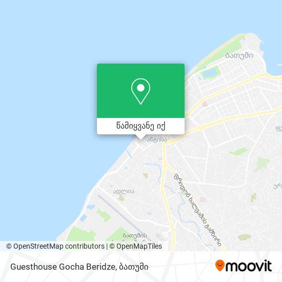 Guesthouse Gocha Beridze რუკა