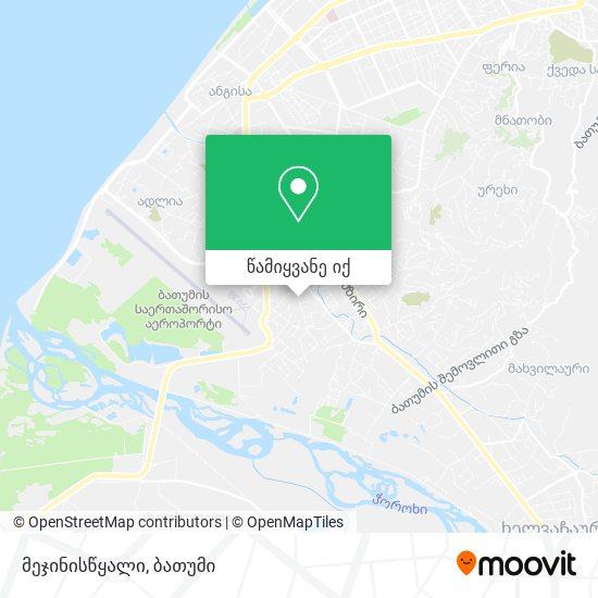 მეჯინისწყალი რუკა