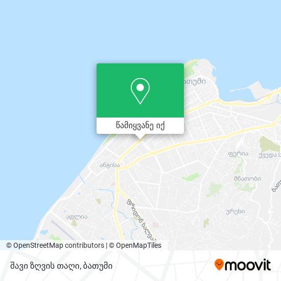 შავი ზღვის თაღი რუკა