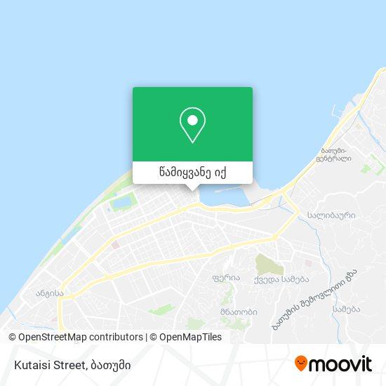 Kutaisi Street რუკა