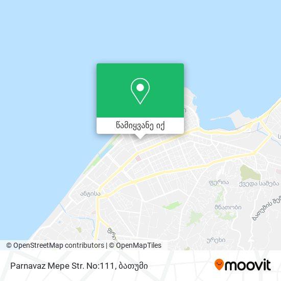 Parnavaz Mepe Str. No:111 რუკა