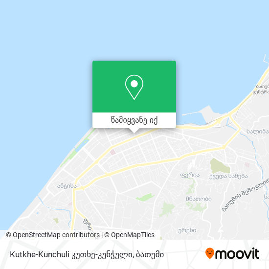 Kutkhe-Kunchuli კუთხე-კუნჭული რუკა