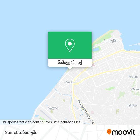 Sameba რუკა