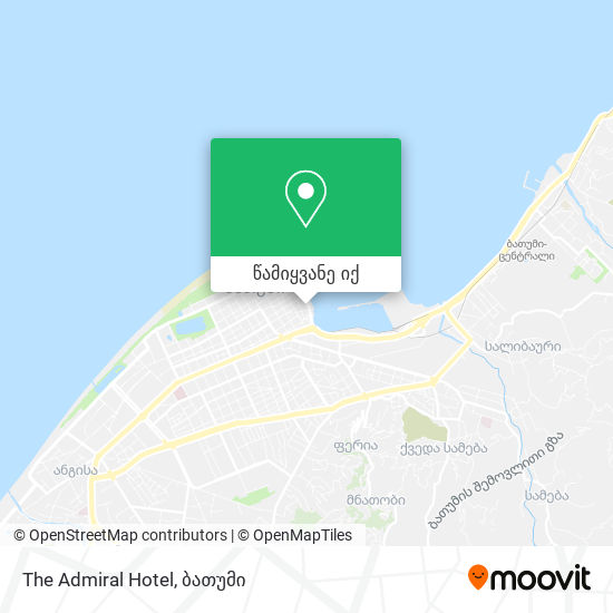 The Admiral Hotel რუკა