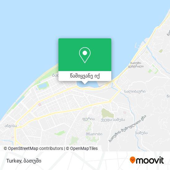 Turkey რუკა