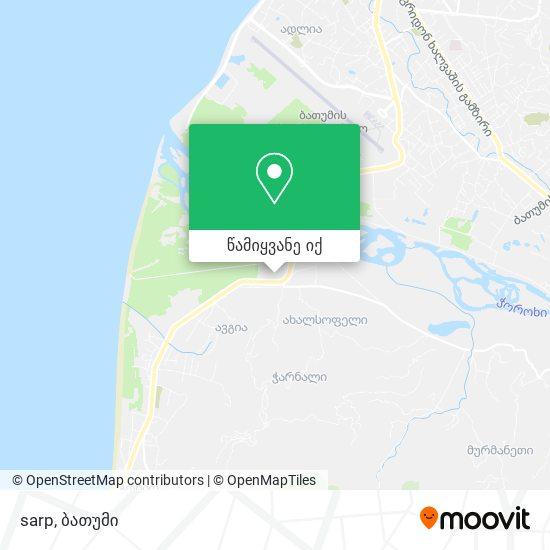 sarp რუკა