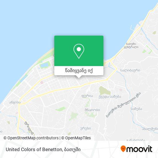 United Colors of Benetton რუკა