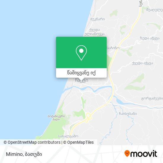Mimino რუკა