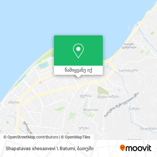 Shapatavas shesaxvevi \ Batumi რუკა