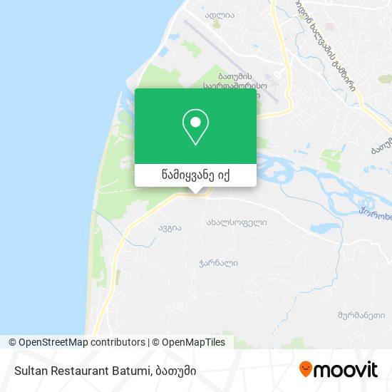 Sultan Restaurant Batumi რუკა
