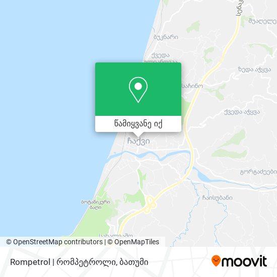 Rompetrol   რომპეტროლი რუკა