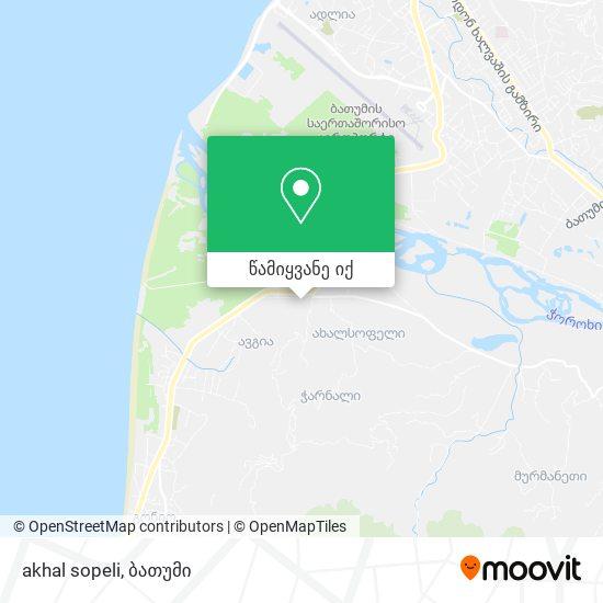 akhal sopeli რუკა