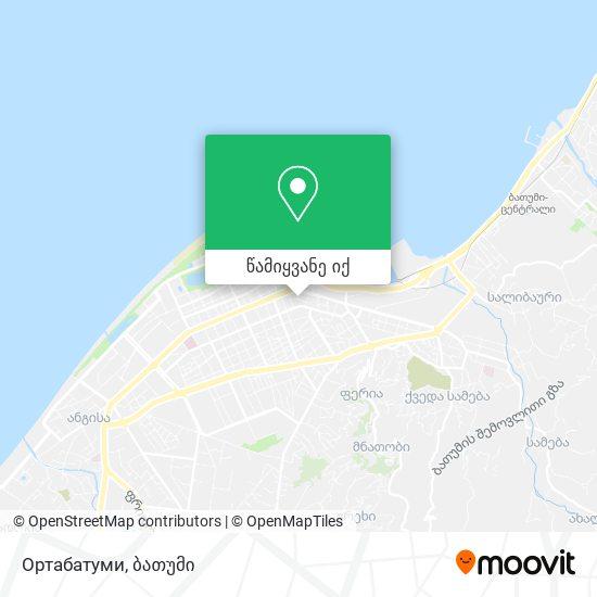 Ортабатуми რუკა