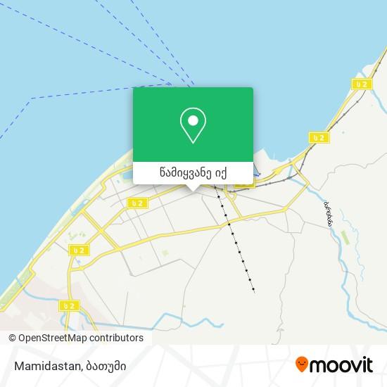 Mamidastan რუკა