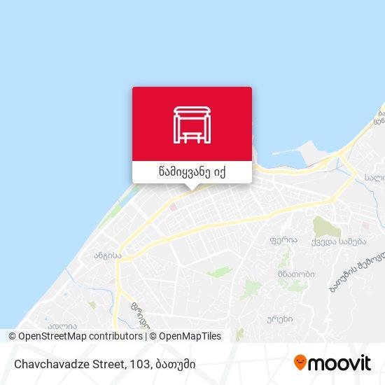 Chavchavadze Street, 103 რუკა