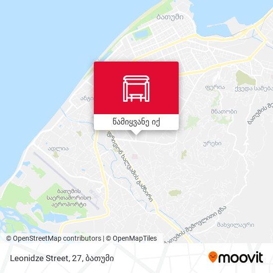 Leonidze Street, 27 რუკა