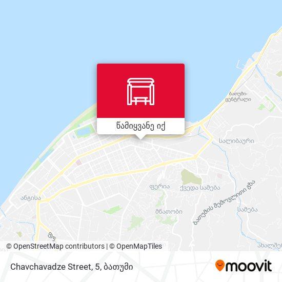 Chavchavadze Street, 5 რუკა