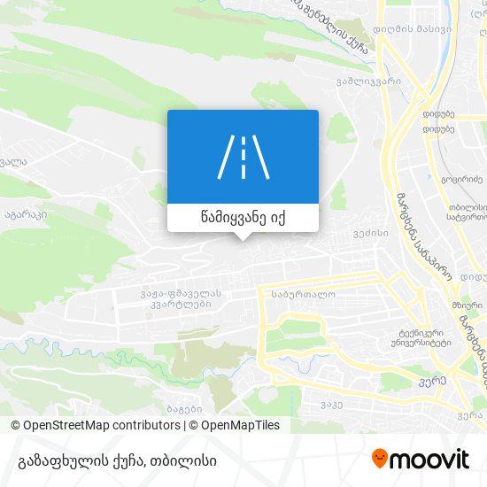 გაზაფხულის ქუჩა რუკა