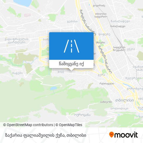 ზაქარია ფალიაშვილის ქუჩა რუკა