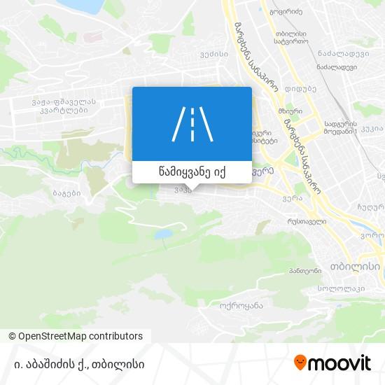 ი. აბაშიძის ქ. რუკა