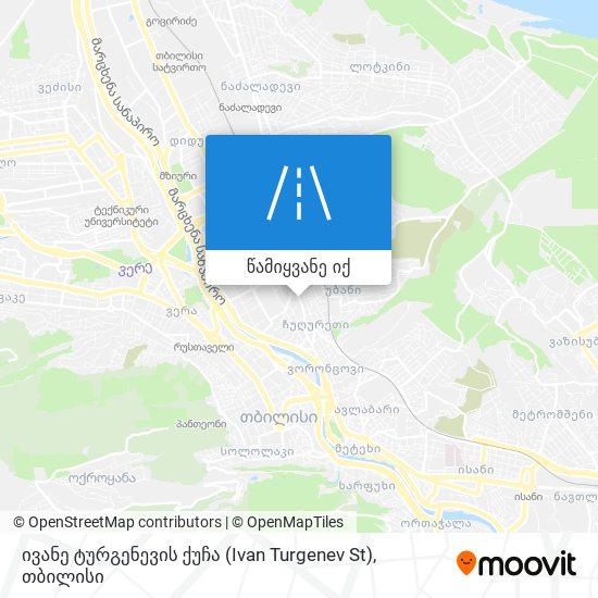 ივანე ტურგენევის ქუჩა (Ivan Turgenev St) რუკა