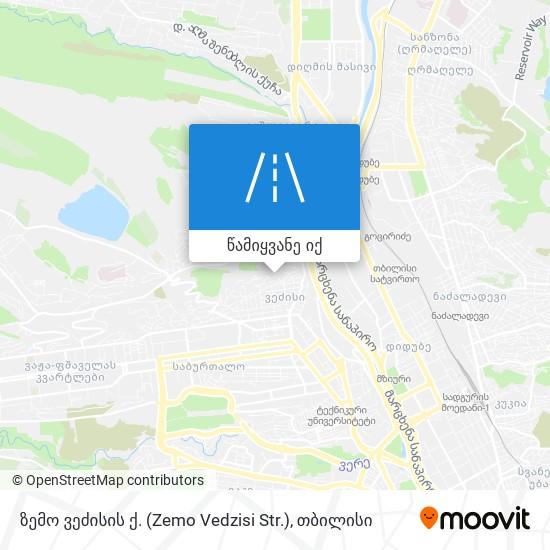 ზემო ვეძისის ქ. (Zemo Vedzisi Str.) რუკა
