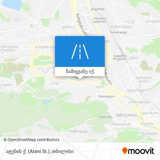 ატენის ქ. (Ateni St.) რუკა