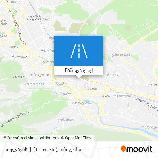 თელავის ქ. (Telavi Str.) რუკა