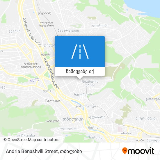 Andria Benashvili Street რუკა