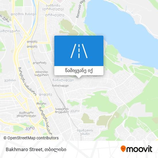 Bakhmaro Street რუკა