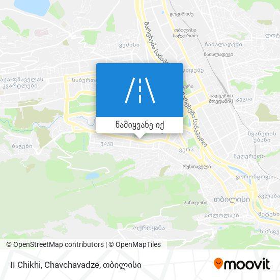 II Chikhi, Chavchavadze რუკა