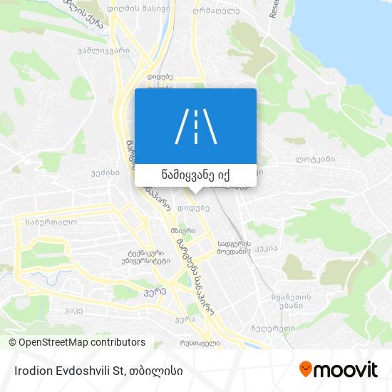 Irodion Evdoshvili St რუკა